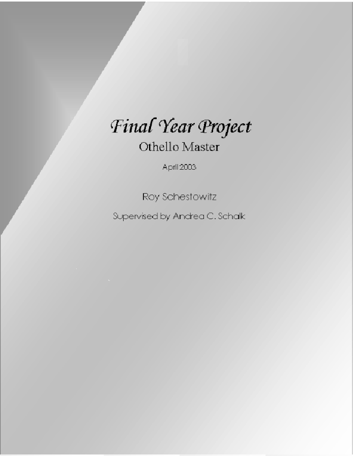 a w final year project paper Final project report for project manager & infrastructure sme the system will eliminate illegible paper logs and speed up processing with a barcode scanner.